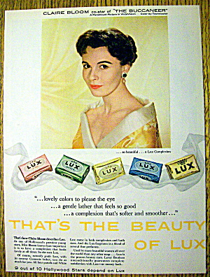 1959 Lux Soap With Claire Bloom Of The Buccaneer