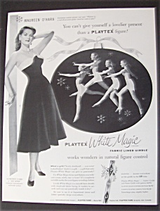 1953 Playtex White Magic Girdle With Maureen O' Hara
