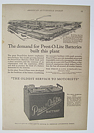 1923 Prest-o-lite Battery With Car Battery