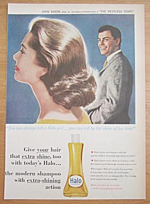 1959 Halo Shampoo w/John Saxon (The Restless Years) (Image1)