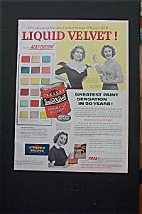 1955 O'Brien's Liquid Velvet Paint with Meadows Sisters (Image1)