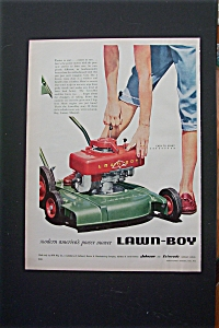 1955  Lawn Boy Lawn Mower with Woman's Hand  (Image1)