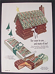 1953 Mars Milky Way Bars W/ House Made From Candy Bars