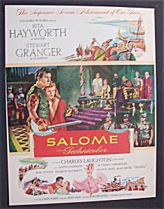1953 Movie Ad For Salome