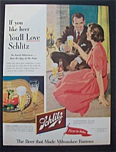 Vintage Ad: 1953 Schlitz Beer (Image1)