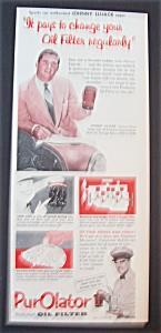1953 Purolator Oil Filter with Johnny Lujack (Image1)