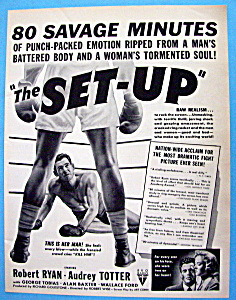 Vintage Ad: 1949 The Set Up With Robert Ryan