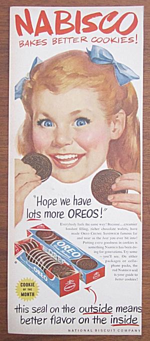 1952 Nabisco Oreo Cookies w/ Little Girl Eating Cookies (Image1)