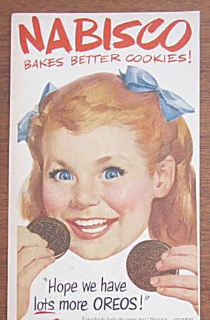 Collectibles 1952 Nabisco Cookie Of The Month Fig Newtons Boy Eating Ad