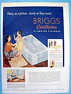 Vintage Ad: 1952 Briggs Beautyware Plumbing Fixtures (Image1)