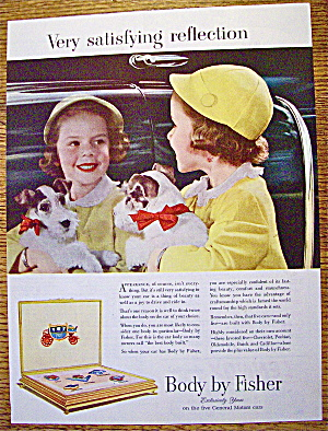 1952 Body By Fisher W/ Little Girl's Reflection In Car
