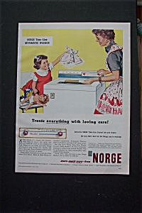Vintage Ad: 1955 Norge Time Line Automatic Washer (Image1)