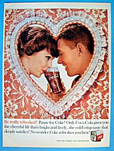 1960 Coca-Cola (Coke) w/Man & Woman Touching Foreheads (Image1)