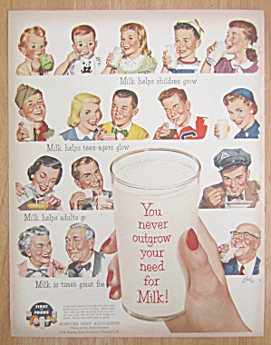 1952 Milk with Variety of People That Drink Milk (Image1)