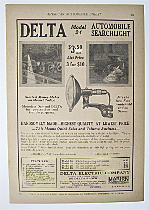 1923 Delta Model 24 Automobile Searchlight With Light