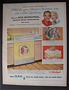 1958 Rca Whirlpool Washer-dryer Combo W/ Fred Macmurray
