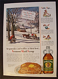 1951 Vermont Maid Syrup