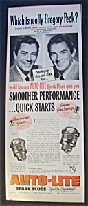 1951 Auto - Lite Spark Plugs With Gregory Peck
