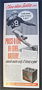 1951 Prest - O - Lite Battery With Choo - Choo Justice