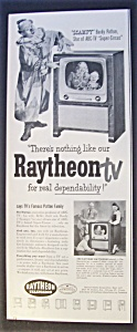 1951 Raytheon Tv With Scampy