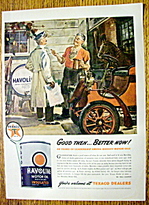 1944 Havoline Motor Oil With 2 Men Talking