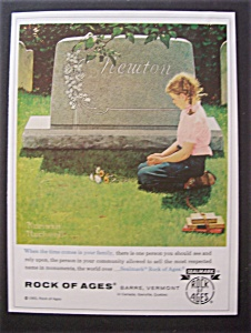 Vintage Ad: 1965 Rock Of Ages By Norman Rockwell