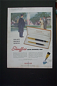 1955 Sheaffer's Snorkel Pen with Boy Graduating  (Image1)