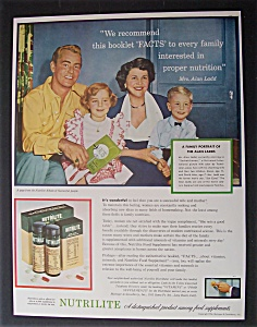 1954 Nutrilite With Alan Ladd & Family