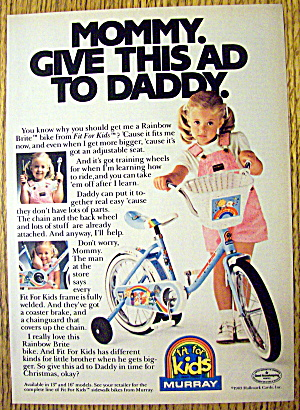 1984 Murray Rainbow Brite Bicycle/bike With Little Girl