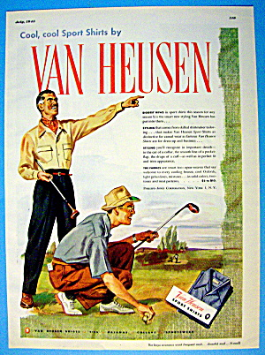 1945 Van Heusen Shirts with Men Golfing (Image1)