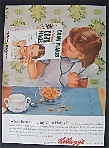 1954 Kellogg's Corn Flakes w/Girl Looking in the Box (Image1)
