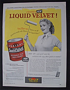 1954  O ' Brien's  Liquid  Velvet  Paint (Image1)