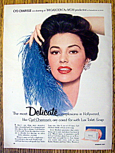 Vintage Ad: 1954 Lux Soap With Cyd Charisse