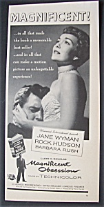 1954 Movie Ad For Magnificent Obsession