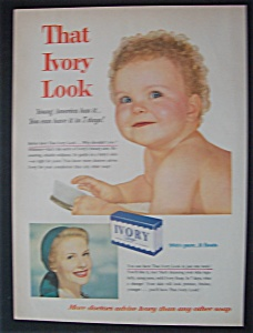 1954 Ivory Soap with Baby Holding a Hair Brush (Image1)