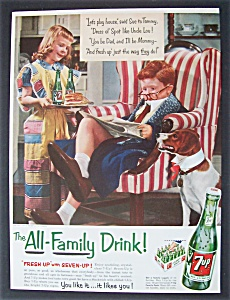 1954 7 Up (Seven Up) with Girl Serving Boy a Sandwich (Image1)
