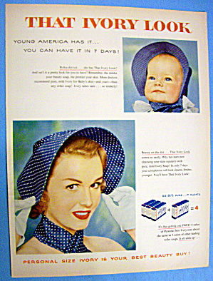 1955 Ivory Soap with Woman & Baby Wearing Bonnets (Image1)