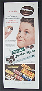 Vintage Ad: 1955 Welch's Junior Mints