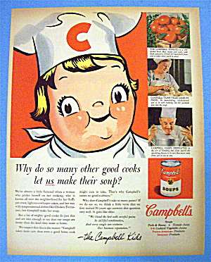 1955 Campbell's Soups With The Campbell Kids