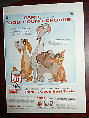 1955 Pard Dog Food With Lady & The Tramp
