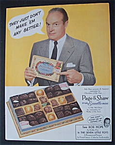 1955 Page & Shaw Candies With Bob Hope