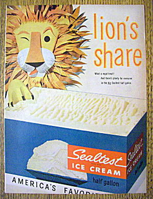 1955 Sealtest Ice Cream with Lion's Share (Image1)
