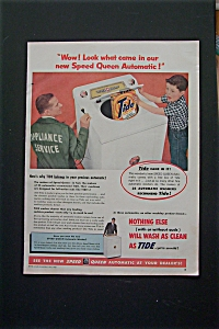 1955 Speed Queen Automatic Washer with Tide Detergent (Image1)