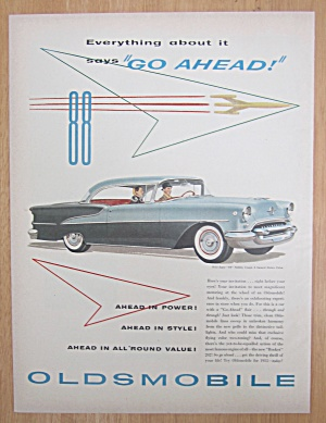 1955 Oldsmobile With Super 88 Holiday Coupe