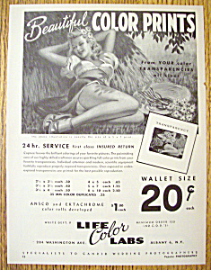 Vintage Ad: 1949 Life Color Labs (Image1)