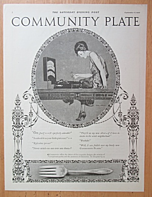 1923 Community Plate Silverware with Woman & Silverware (Image1)