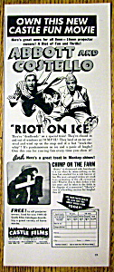 1949 Castle Films with Abbott & Costello (Riot On Ice) (Image1)