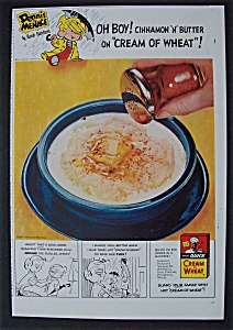 1955 Cream Of Wheat Cereal With Dennis The Menace