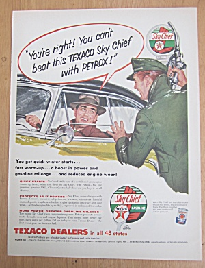 1955 Texaco Dealers With Sky Chief Gasoline