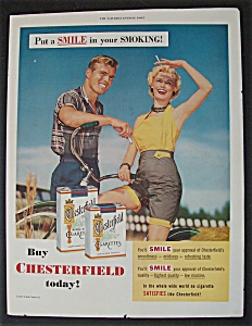1955 Chesterfield Cigarettes